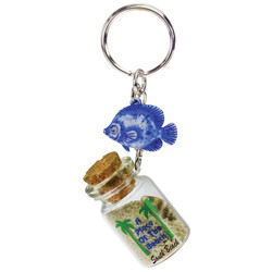 FISH DANGLING SAND FILLED KEYCHAINS