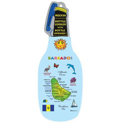 BARBADOS MAP BOTTLE COOLER