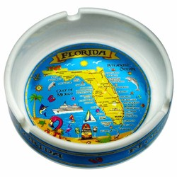 METALLIC SOUVENIR ASHTRAYS, Florida