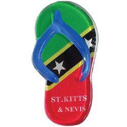 ST KITTS FLAG SANDAL MAGNETS