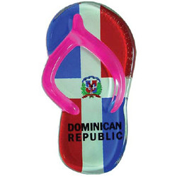 DOMINICAN REPUBLIC FLAG SANDAL MAGNETS