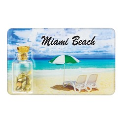 Beach Umbrella Sand and Shell Bottle Magnet