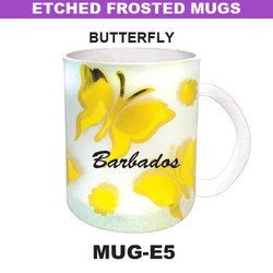 BUTTERFLY Etched Frosted Mug