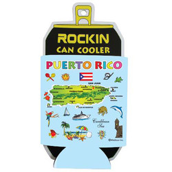 PUERTO RICO MAP Can Cooler