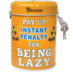 Lazy Tin Can Bank
