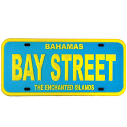 BAY STREET LICENSE PLATE MAGNET
