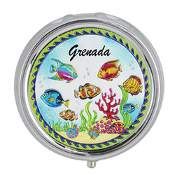 Fish Scene Foil Pill Box