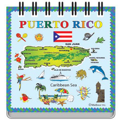 Puerto Rico Map NOTEPAD MAGNET