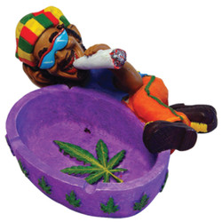 Sleeping Rasta Ceramic Ashtray