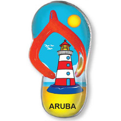 RED LIGHTHOUSE SANDAL MAGNET