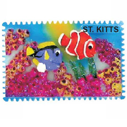 CLOWFISH CERAMIC STAMP MAGNET