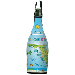 Florida Map Wine Bottle Cooler