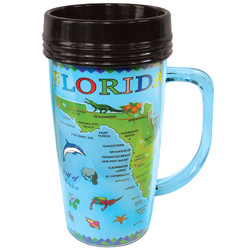 Florida Map Insulated Thermal Mug