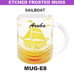 SAILBOAT Etched Frosted Mug