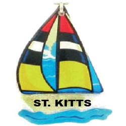 SAILBOAT SAND FILLED MAGNET