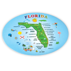 FLORIDA State Map BOTTLE OPENER Magnet