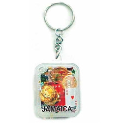KEY CHAIN FLOATING CASINO RECTANGLE