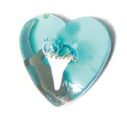 HEART, FLOATING BLUE MAGNET
