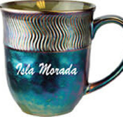 Metallic Finish Ceramic Mugs