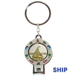 SHIP SPINNER NAIL CLIPPER KEYCHAINS
