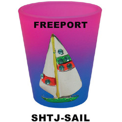 SAIL BOAT Jewel Shot Glasses