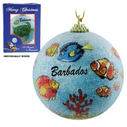 FISH FROSTED CHRISTMAS ORNAMENTS