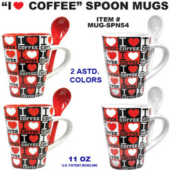 I Love Coffee Spoon Mugs