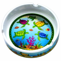 METALLIC SOUVENIR ASHTRAYS, Turtles