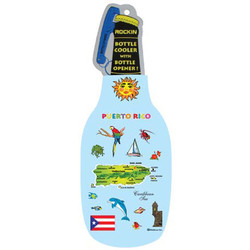 PUERTO RICO MAP BOTTLE COOLER