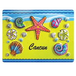 STARFISH EMBOSSED RUBBER MAGNET