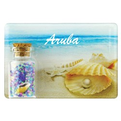 Shell Pearl Color Sand and Shell Bottle Magnet