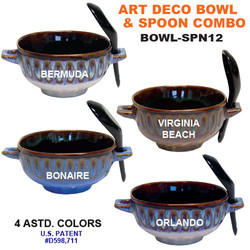 Art Deco Bowl & Spoon Combo