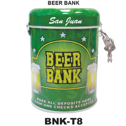 Beer Tin Can Bank