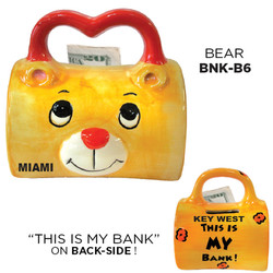 Ceramic Bear Bag Bank