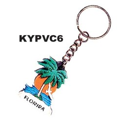 PALM TREE SUN KEYCHAINS