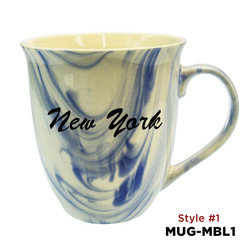 Marble Finish Glazed Ceramic Mugs 16 oz.