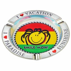 Smile Mon Rasta Metal Foil Ashtray