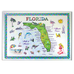 FLORIDA State Map FOIL Rectangular Magnet