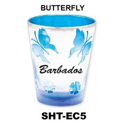 BUTTERFLY etched color shot glasses