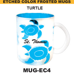 TURTLE Etched Color Frosted Mug