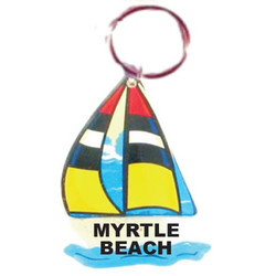 SAILBOAT Sand Filled Keychain