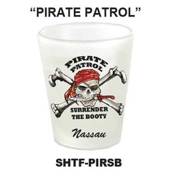 PIRATE PATROL, PIRATE FROSTED SHOT GLASS