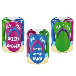 FLIP FLOP SHOT GLASS. It's Flip O'Clock Somewhere. It's Always Better On The Beach.