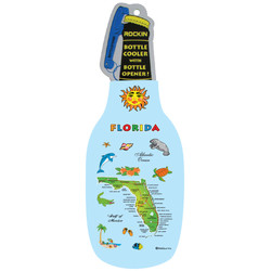 Florida Map Bottle Cooler