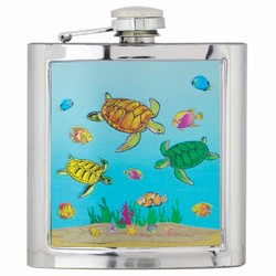 TURTLES Souvenir Foil Flask