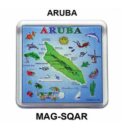 ARUBA MAP SQUARE MAGNET