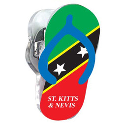 ST KITTS, Sandal Acrylic Memo Clip Magnets