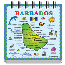 Barbados Map NOTEPAD MAGNETS