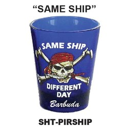 SAME SHIP, PIRATE BLUE SHOT GLASS