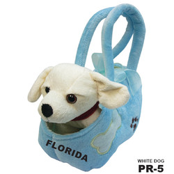 WHITE DOG BAG PALMS